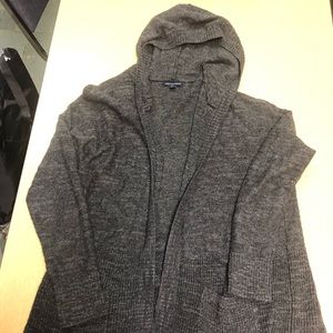 AMERICAN EAGLE long cardigan hooded sweater